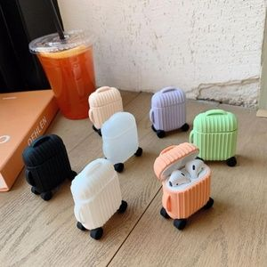 NEW Cute Suitcase Airpods Silicone Case